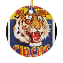 Old original vintage tiger circus poster 1900s ceramic ornament
