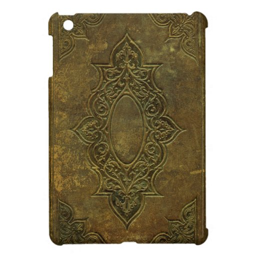 Old Book Leather Case ~ Old ornate leather book cover ipad mini case zazzle