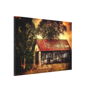 Old Outbuilding in Modern Vintage Style Canvas Print
