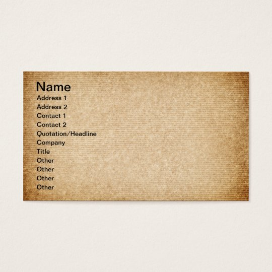 Old Packaging Paper With Stripes For Background Business Card