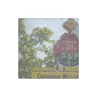 Old Paint Sign Stone Magnet
