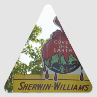Old Paint Sign Triangle Sticker