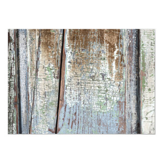 Old painted distressed wood background card