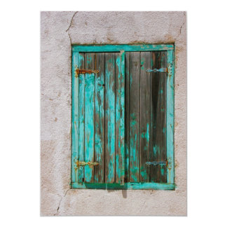 """Old Painted Shutters Invitation 5"""" X 7"""" Invitation Card"""