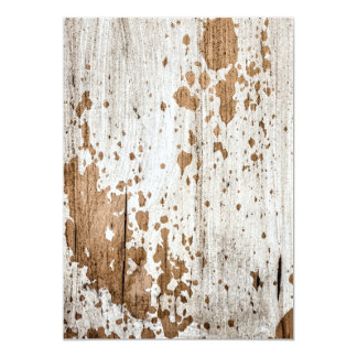 Old painted wood background card