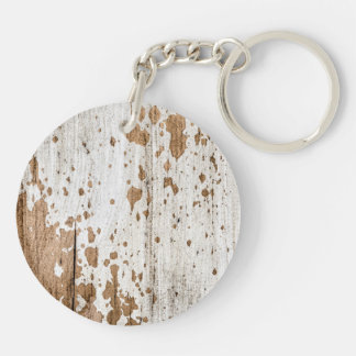 Old painted wood background keychain
