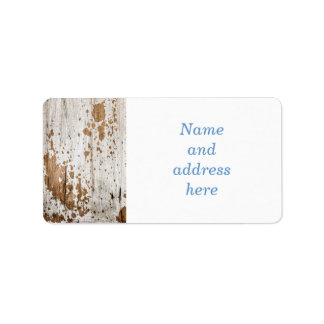 Old painted wood background label