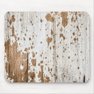 Old painted wood background mouse pad