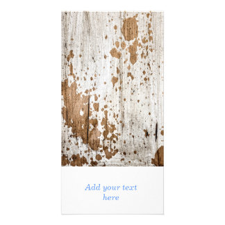Old painted wood background photo cards