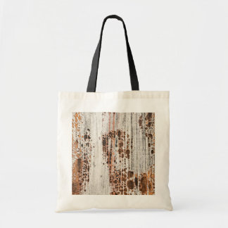 Old painted wood texture canvas bag