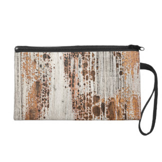Old painted wood texture wristlet clutches