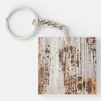 Old painted wood texture keychain