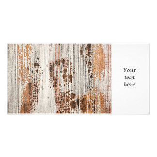 Old painted wood texture photo greeting card