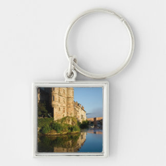Old Palace Silver-Colored Square Keychain