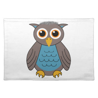 Old Papa Owl Cloth Placemat