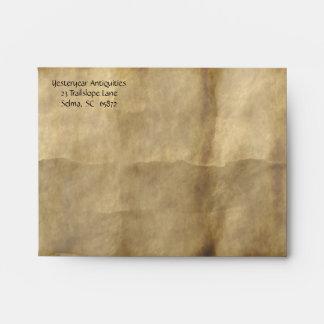 Old Paper A2 Notecard Envelope