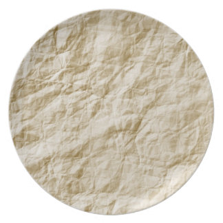 Old Paper Background Dinner Plate