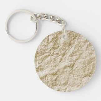 Old Paper Background Single-Sided Round Acrylic Keychain