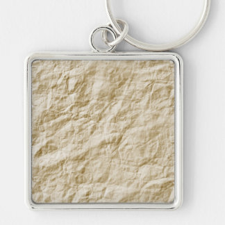 Old Paper Background Silver-Colored Square Keychain