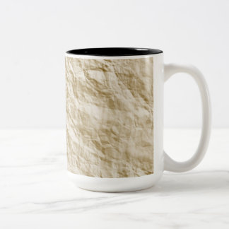 Old Paper Background Two-Tone Coffee Mug