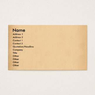 Old paper business card