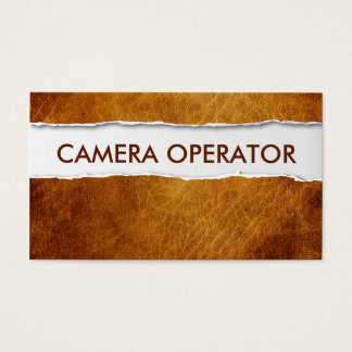 Old Paper Camera Operator Business Card