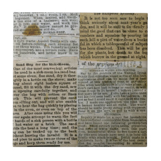 Old Paper Clippings Tile