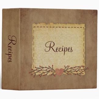 Old Paper Look Recipe Binder