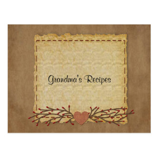 Old Paper Look Recipe Card