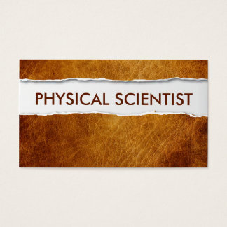 Old Paper Physical Scientist Business Card