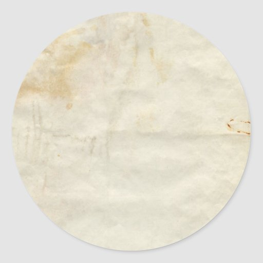 Old Paper Round Sticker