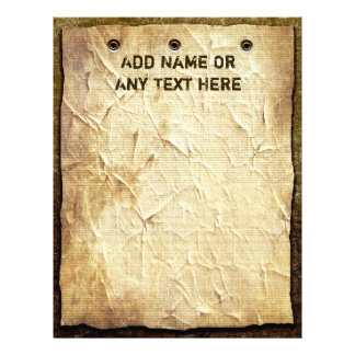 Old Paper Sign On Wood Letterhead