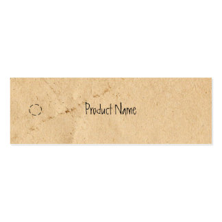 Old Paper Skinny Hang Tag Double-Sided Mini Business Cards (Pack Of 20)