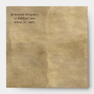 Old Paper Square Notecard Envelope