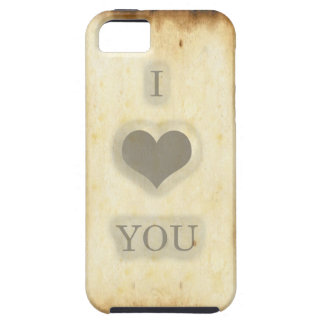 Old Paper Texture I Love You Iphone 5 case