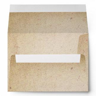 old paper texture vintage A7 wedding Envelope