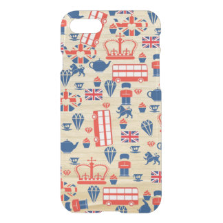 Old Paper UK iPhone 7 Clearly Case