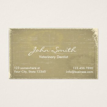 Browse products at zazzle with the theme surgeons business cards old paper veterinary dentist business card reheart Image collections