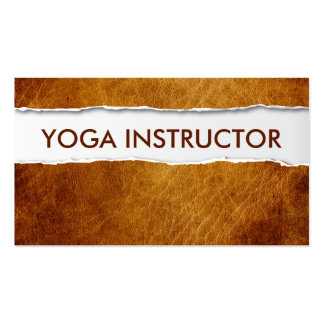 Old Paper Yoga instructor Business Card