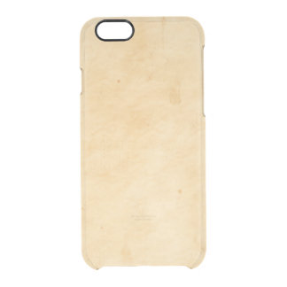 Old Parchment Background Stained Mottled Look Clear iPhone 6/6S Case