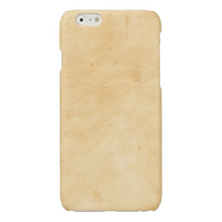 Old Parchment Background Stained Mottled Look Glossy iPhone 6 Case