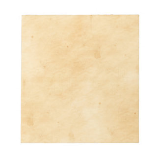 Old Parchment Background Stained Mottled Look Notepad