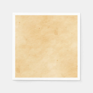 Old Parchment Background Stained Mottled Look Paper Napkin
