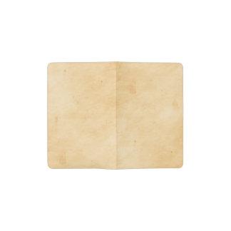 Old Parchment Background Stained Mottled Look Pocket Moleskine Notebook
