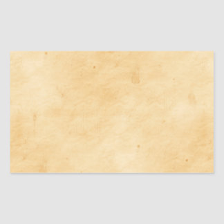 Old Parchment Background Stained Mottled Look Rectangular Sticker
