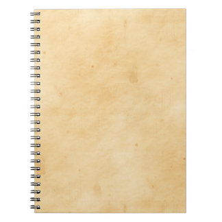 Old Parchment Background Stained Mottled Look Spiral Notebook