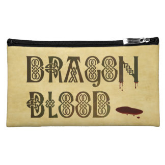 Old Parchment Paper Dragon Blood Celtic Knot Cosmetic Bags