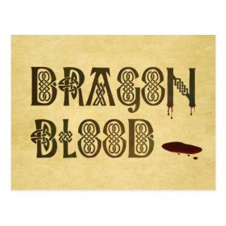 Old Parchment Paper Dragon Blood Celtic Knot Postcard