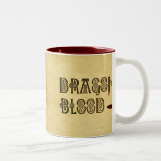 Old Parchment Paper Dragon Blood Celtic Knot Two-Tone Coffee Mug