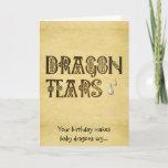 Old Parchment Paper Dragon Tears Celtic Knot Card